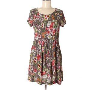 Anthro Sam & Lavi Short Sleeve Floral Print Dress